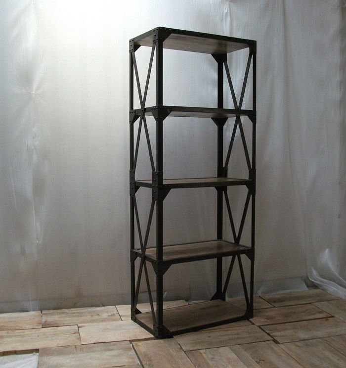 etagere metallique vintage. Black Bedroom Furniture Sets. Home Design Ideas