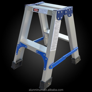 Double-side A frame warehouse 9 steps folding aluminum step ladder