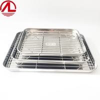 Wholesale Factory Direct Selling Baking Sheet with Rack Set, Stainless Steel Baking Pan Tray Cookie Sheet with Cooling Rack