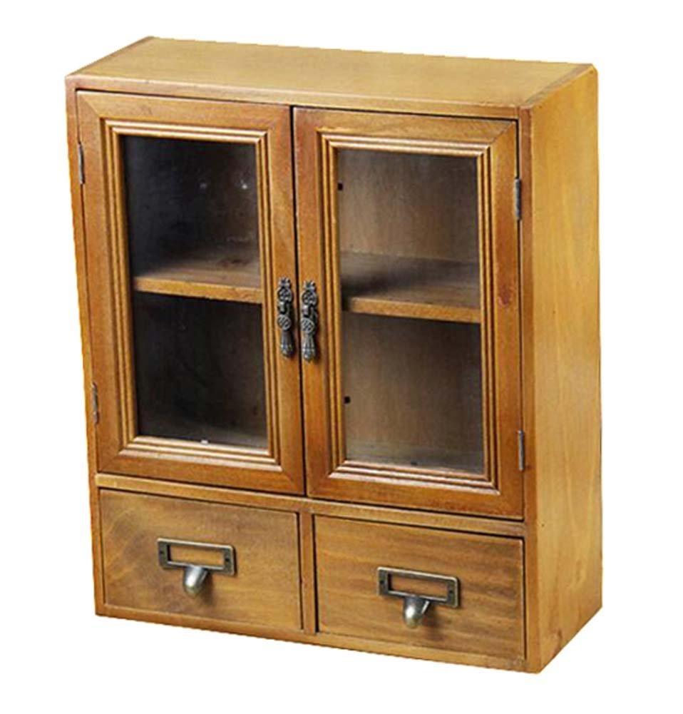 DRAGON SONIC Classical Wood Handmade Storage Chest Storage Rack Storage Cabinet