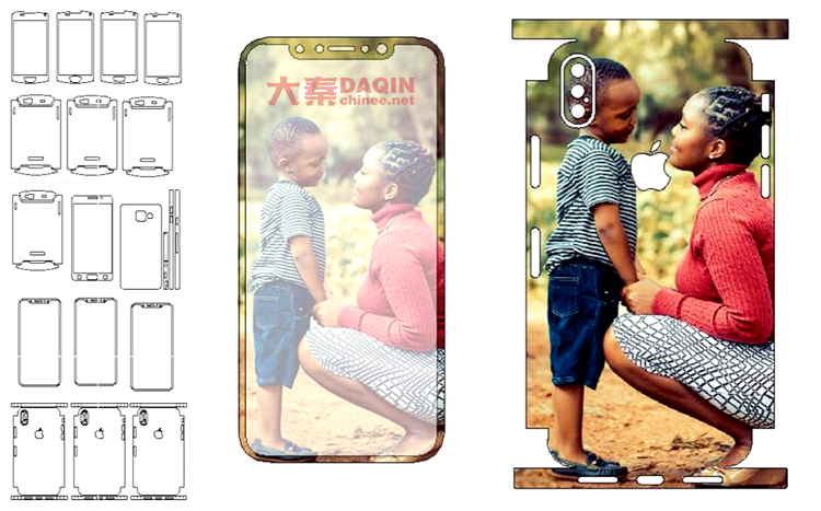 DAQIN 3D mobile beauty software with A158 machine to make Full Cover Films Skins Stickers for Samsung