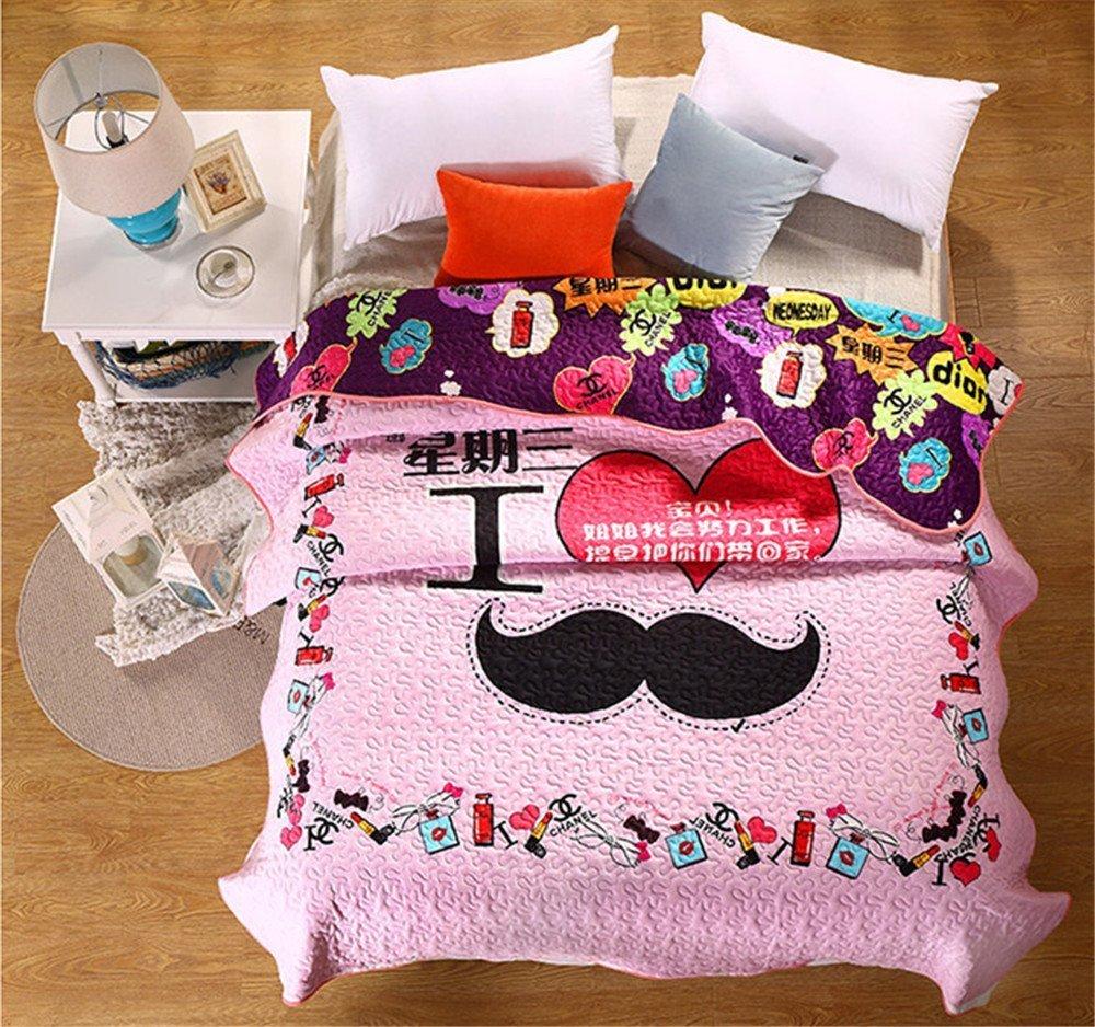 Auvoau Boho Duvet Cover Set Girl Floral Quilt Set Cute Girls Patchwork Quilt Set 1PC (Queen, 5)