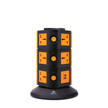 dubai wholesale market 4 layers tower socket universal adaptor for travel with safety shutter