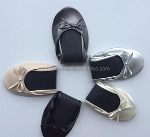 2017 New Design colorful Wedding Flats for Guest & Rollable Dancing Ballet Slipper