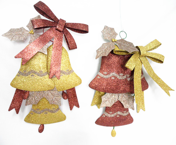 Metal Bell Christmas Decorations, professional Xmas gift supplier