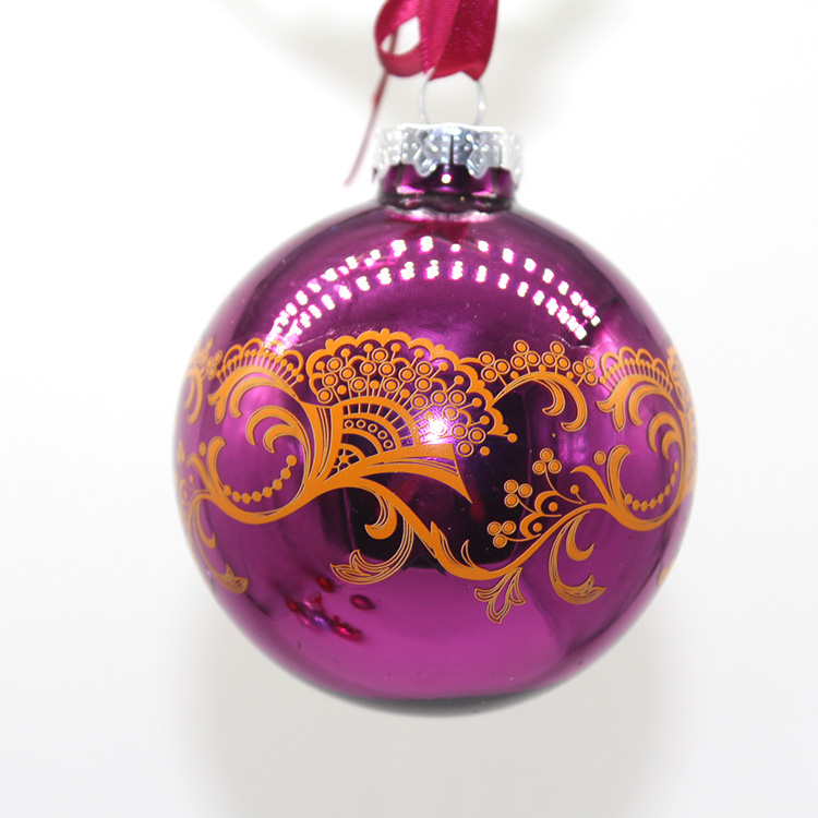 Wholesale Christmas Hanging  Ornaments Decoration Glass Ball