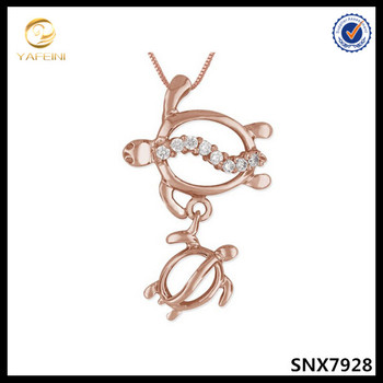 14k Rose Gold Jewelry Wholesale Mother Baby Silver Jewelry925
