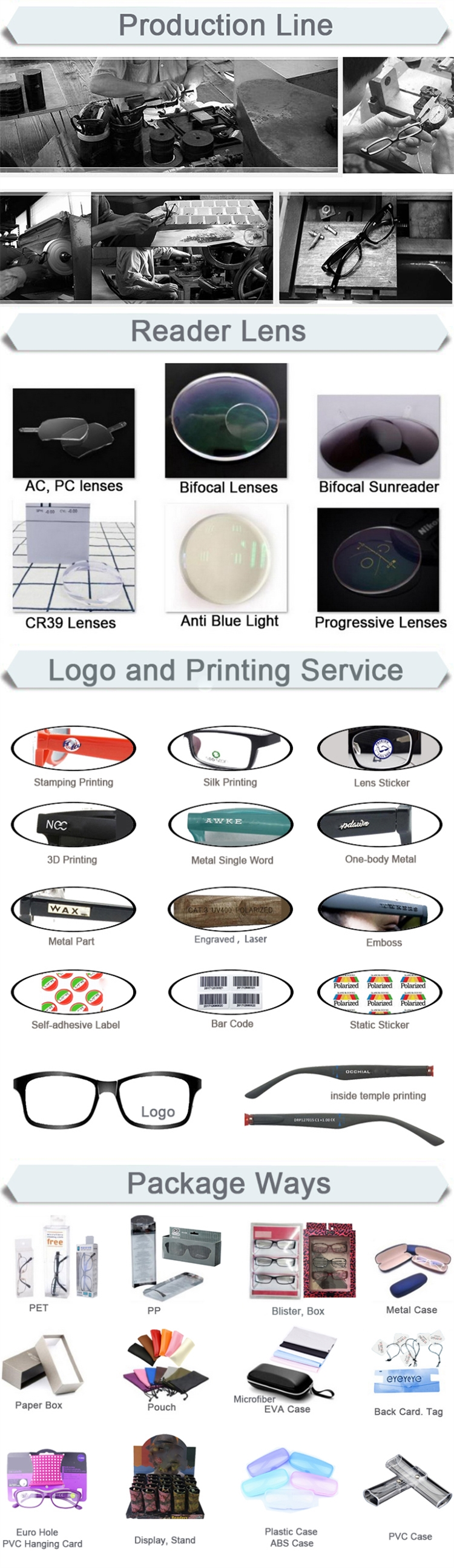 패션 Optimum 광 플라스틱 독서 Glasses/노안 Glasses/확대 안경/독자
