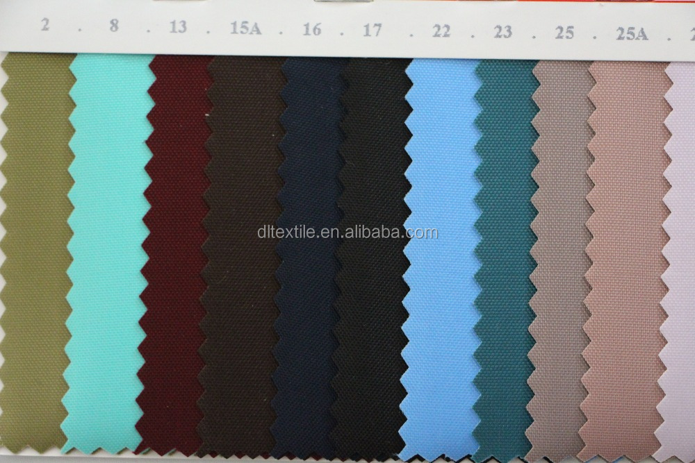 Hot Sale 210D Nylon Oxford PVC Coated Fabric for Luggage/bags and tents 29 colors available in stock