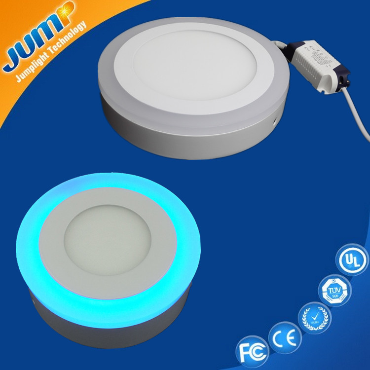 Best price 16W 195mm rotating color led panel surface light