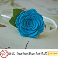 Alibaba china wholesale baby headbands Felt artificial flowers with Various color