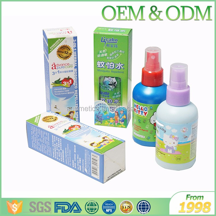 Hot selling Itching anti mosquito spray welcome OEM natural formula child mosquito repellent