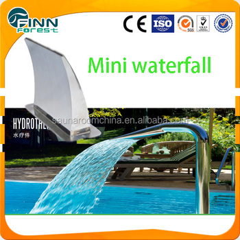 Garden swimming pool ornaments water blade waterfall mini for Garden pool ornaments