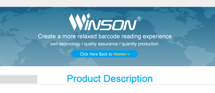 Winson WNI-6210g cable 2D de código de barras escáner de imagen CMOS lector de código de barras
