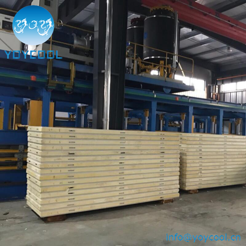 Thermal Insulation hot-dip galvanized Sandwich Panel, cold storageuse corrugated color steel sheet EPS Sandwich Panel from china