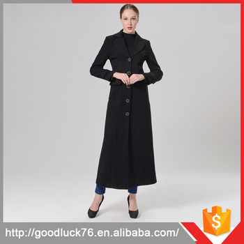 Manteau cachemire femme long