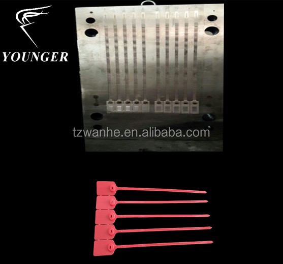 mould for plastic nylon security cable seals