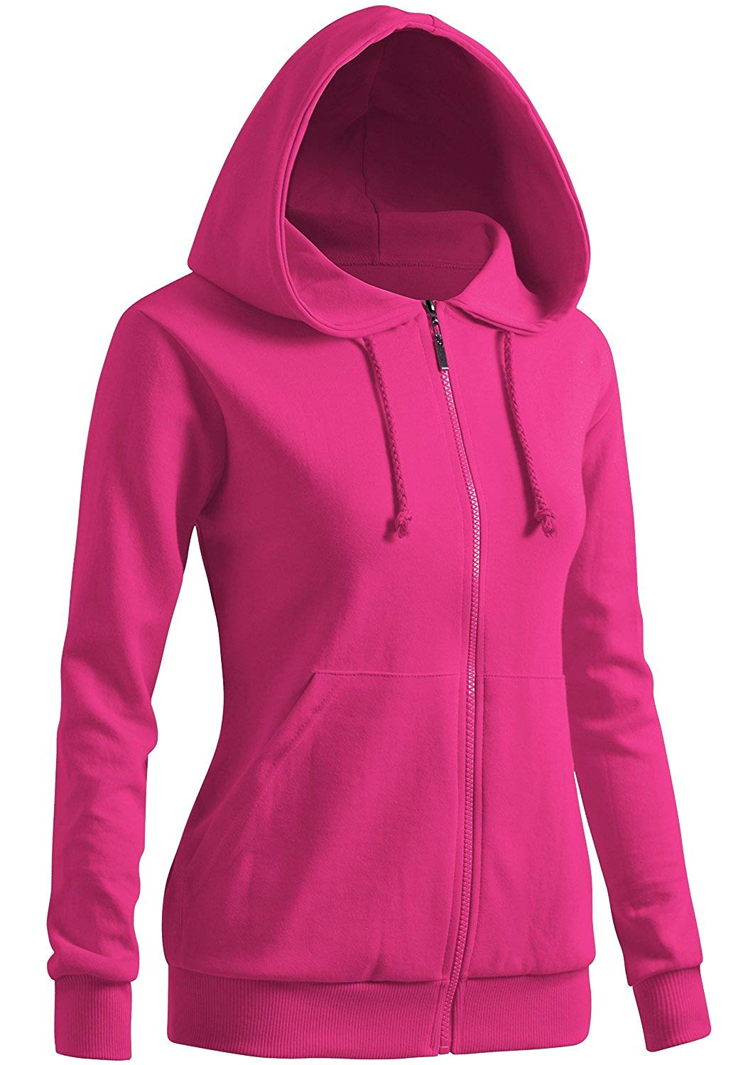71f663cd289b Get Quotations · CLOVERY Women s Casual Zip-up Hoodie Basic Long Sleeve  Hoodie