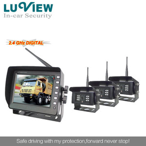 2.4GHz Digital Waterproof Wireless Car Backup Camera & 5.6 inch Wireless Monitor