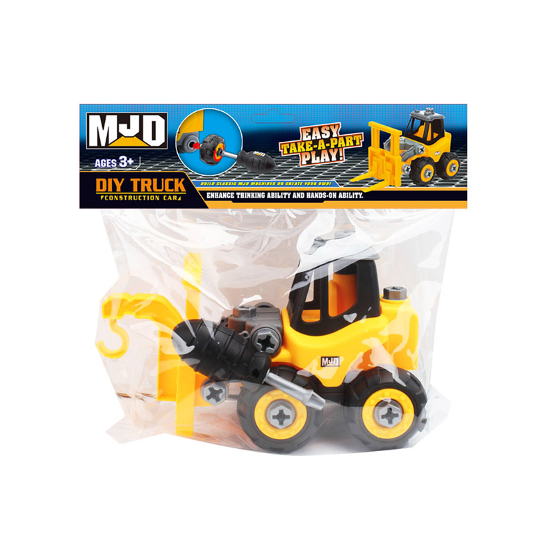 DIY engineering forklift Construction  truck Car Toy For Sale