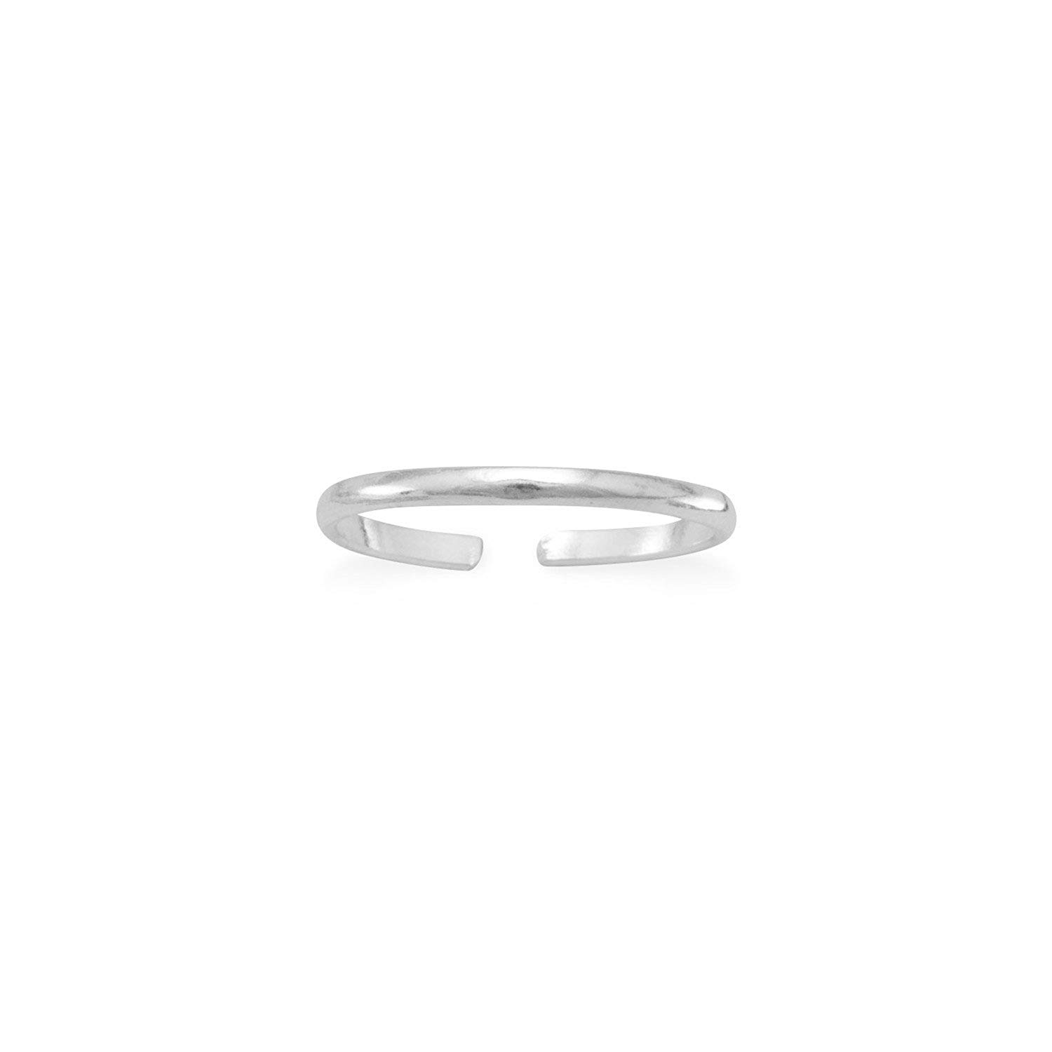 Solid 925 Sterling Silver Stackable Expressions Marcasite Wedding Band 3mm