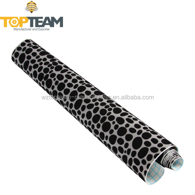 PVC self adhesive paper roll with suede spots