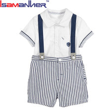 Fashion summer baby boys clothes set newborn