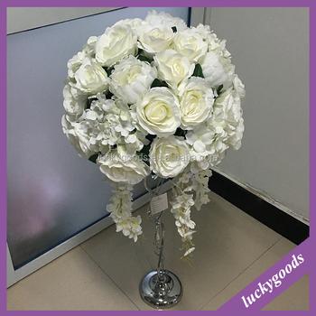Lfb451 Hot Sale Ivory Handmade Silk Floral Centerpiece Party