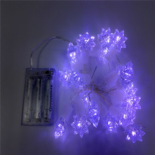 OEM and ODM party maple leaf decorative micro led string lights