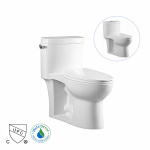 CUPC toilet White WaterSense Labeled Elongated Chair Height 1-Piece Toilet 12-in Rough
