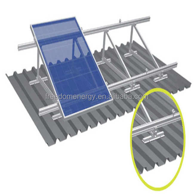 Angle Flat Pv Roof Adjustable Solar Panel Project Energy Bracket Racking Mounting System