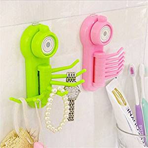 1 Piece Super multifunction 6 hooks wall clothes rack cloth hook wall Robe Hook for bathroom kitchen Hanging Hooks Wall Accessorie