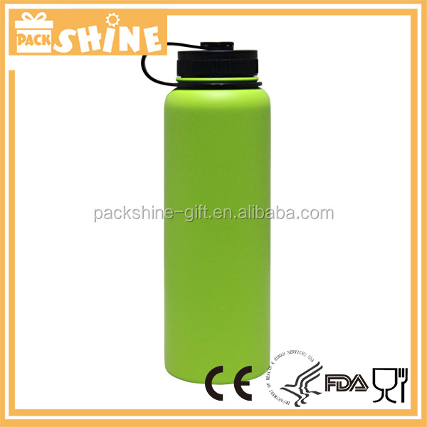 Stainless Steel Bottle Canteen Insulated Vacuum Flask Travel Mug Green Color