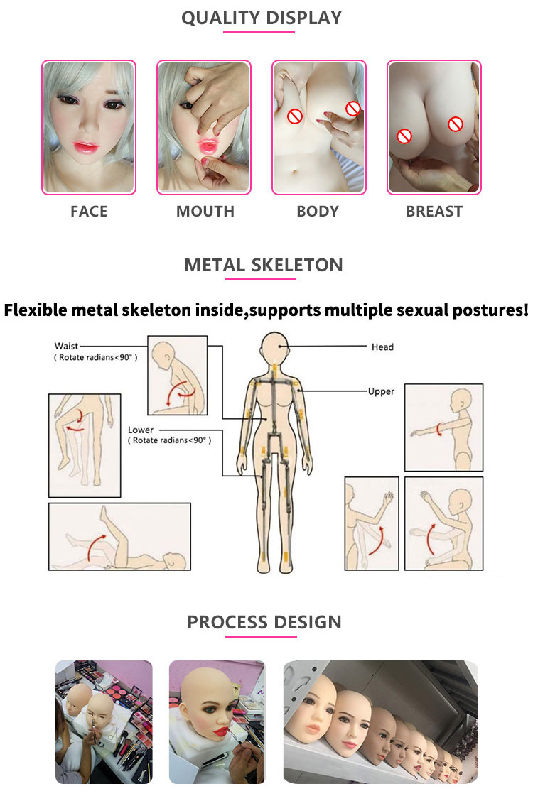 TPE Realistic Touch Feeling Skin 168cm Medium Breast Sex Masturbation Silicone Doll For Men