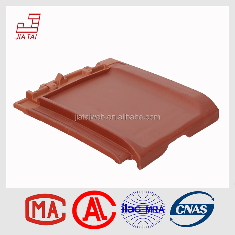 FT-5R12 roofing decorative colorful glazed flat clay roof tile