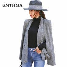 Дизайнерский пиджак SMTHMA, Высокое качество, клубный пиджак - накидка в европейском стиле(Китай)