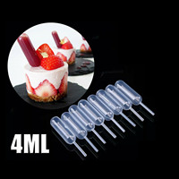 50Pcs/bag Mini Clear 4ml Plastic Transfer Pipettes Food Cupcake Squeeze Dropper