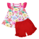 Baby girl floral clothes ruffles shorts toddler tunic summer sets children boutique clothing