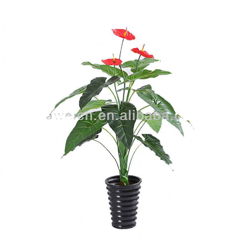 <strong>House</strong> style decoration artificial anthurium flower <strong>tree</strong> potted