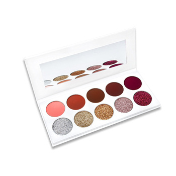 Private Label Make Up Cosmetics Glitter Eyeshadow Palette With Your Own Brand Eye Shadow