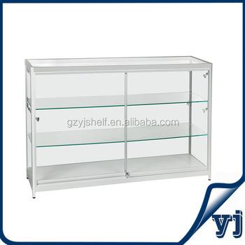 Glass Perfume Display Standsaluminium Frame Glass Showcasewall