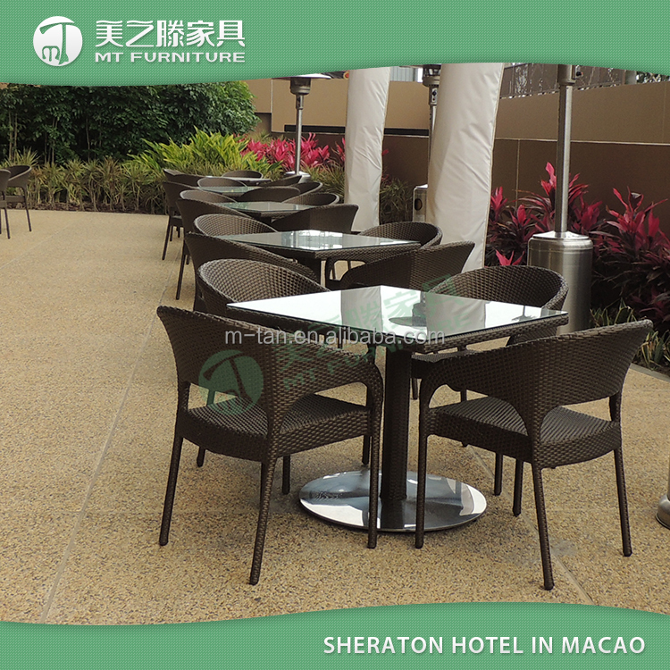 sheraton hotel rattan esstisch, 6 stühle und 1 esstisch zimmer zu, Esszimmer dekoo