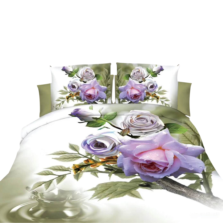 Wholesale Queen Plain 4pcs luxury 3d bedding set for sale