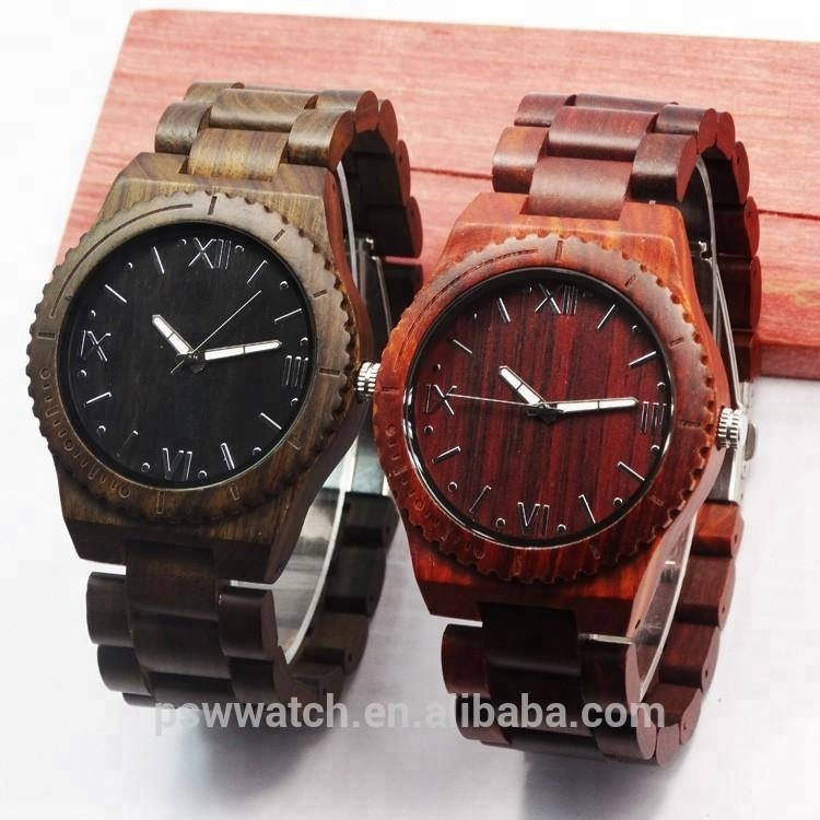 High quality wood wristwatch, wooden watches for <strong>man</strong>