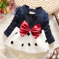 Wholesale Kids Clothing Autumn New Style Pure Cotton Coat Joining Together Tulle Princess Dress Girl Wedding Dress