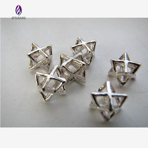 Best selling fashion silver tone alloy tiny little merkaba pendant