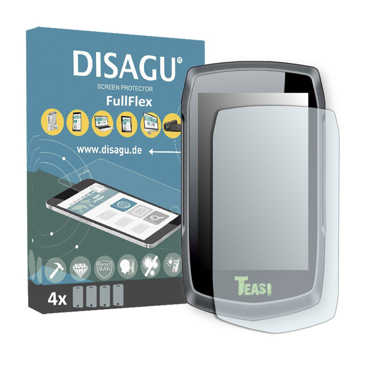 4 x Disagu FullFlex screen protector for Teasi One2 foil screen protector
