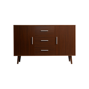 industrial Walnut small wood modern sideboard