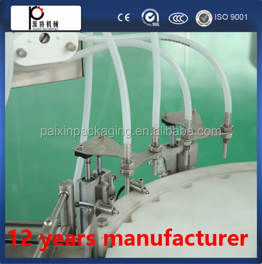Automatic capping filling 4 heads machine 6 nozzles volumetric shanghai china