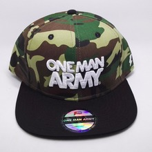 custom camo snapback hat and cap with 3D embroidery LOGO